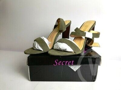 LADIES WOMENS HIGH BLOCK HEEL strap OPEN PEEP TOES SANDALS SHOES SIZE 5