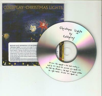 Coldplay - Christmas Lights - Uk Rare Promo Cd - Mint / Official