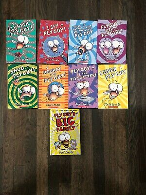 Brand New Set of 9 Fly Guy Books - Tedd Arnold K 1st 2nd 3rd 4th Grade LOT