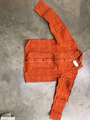 LEATHER WELDING JACKET  Snap Front SIZE Small