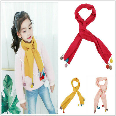 Children Kids Winter Scarf Warm Boys Girls Scarves Children Neckerchief Scarf Z