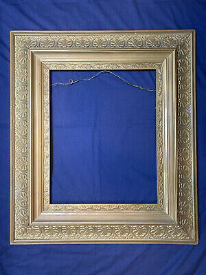 """Large Ornate Antique Gold Gilt Wood Gesso cove Frame fits 16 x 20"""" Art painting"""