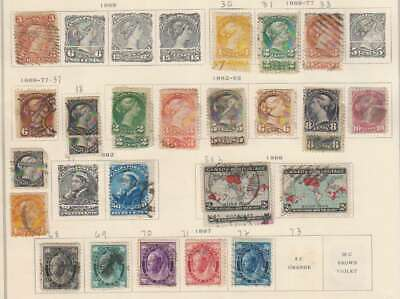 A6922: Early Canada Stamp Collection; Better, Hi-Catalog