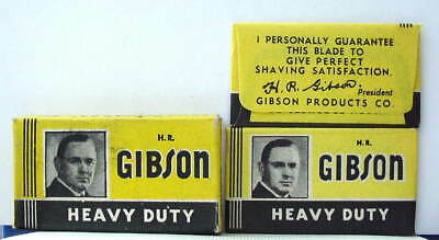 Vintage GIBSON HEAVY DUTY  FULL BOX DE  Safety Razor Blades