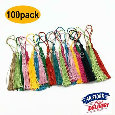 100Pcs Tassel Silk Tassels Trim Cotton Decor Trimming Lace Handmade Craft Sewing