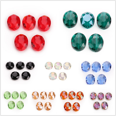 Beads 20pcs Bulk Crystal Oval Faceted Rondelle Glass 20mm Loose Wholesale Spacer