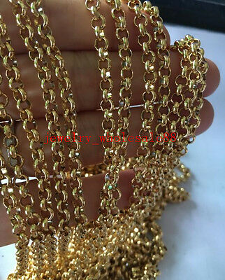 GNAYY 2meter Lot stainless steel 6mm Smooth Rolo Chain Jewelry Findings Marking