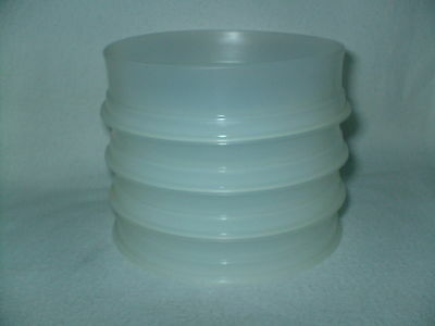 Replacement/Additional Vtg Tupperware Small Hamburger 4 Containers 882