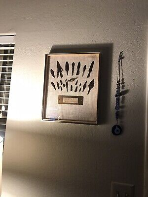 Framed Ancient Roman Javelin/arrowhead/pondium-Whistle Collection