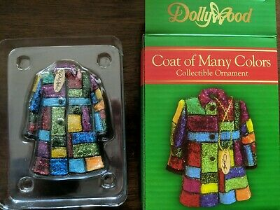 NIB Dolly Parton Coat of Many Colors Christmas Tree Ornament Dollywood Exclusive
