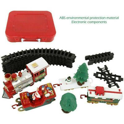 Electric Christmas Train Track Set Light Musical Sound Around Tree Kids Toy Gift