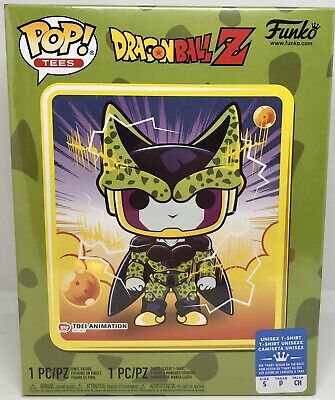 Funko Pop Tee DragonBall Z Perfect Cell GameStop Exclusive Size Small DBZ Anime
