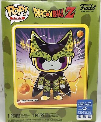 Funko Pop Tee DragonBall Z Perfect Cell GameStop Exclusive Size 2XL DBZ Anime