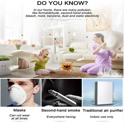Portable Mini Air Purifier USB Wearable Necklace Ion Generator Air Freshener