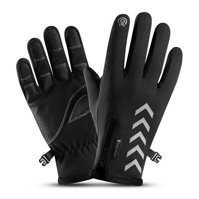 Winter Bicycle Gloves Thermal Reflective Nylon Cycling Sports Accessories