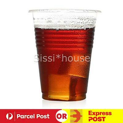 200ml Clear Disposable Plastic Cups Party Drinking Water Coffee Cup Reusable NEW