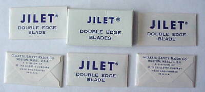 Vintage GILLETTE TRADEMARK JILET  FULL BOX DE  Safety Razor Blades