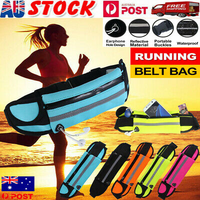Waterproof Running Sports Bum Bag Fanny Pack Waist Belt Money Wallet Zip Pouch