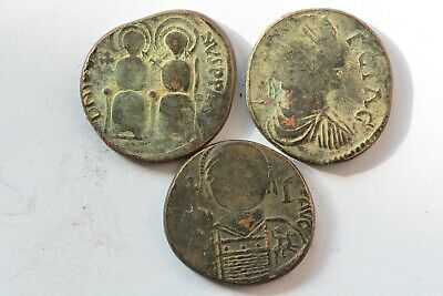 Byzantine 3 Barbarian Imitation coins follis 5th-7th centuryAD