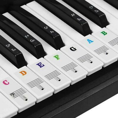 Keyboard Piano Stickers 88 61 54 49 37 Keys Transparent Note For Music Learner