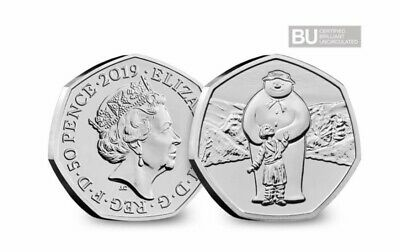 2019 UK The Snowman CERTIFIED BUNC 50p🎄🎄🎄 1 DAY AUCTION NO RESERVE🎄🎄🎄