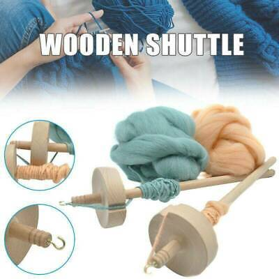Beginners Drop Spindle Top Whorl Yarn Spin Hand Carved Tools Wooden Gifts A8N3