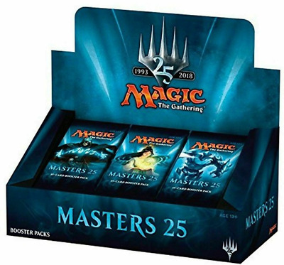 MTG Magic the Gathering ENGLISH Masters 25 Factory Sealed booster box 24 Packs.