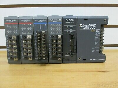 Koyo Direct Logic 305 PLC Rack 5 Slot With  Modules ~Used / Removed~