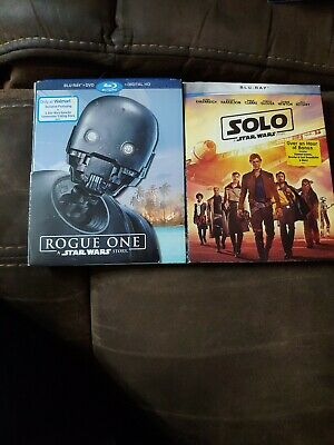 Rogue One: A Star Wars Story (Blu-ray/DVD,Digital 2017& Solo Star Wars blu ray