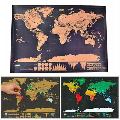 Off World Map World Scratch The Giant Map Journal Of Deluxe Poster Gift Log
