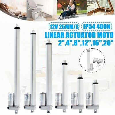 UK 400N 25mm/s Linear Actuator Motor 12V DC Aluminum Alloy 50mm-500mm (2''-16'')