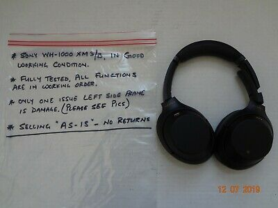 Sony WH-1000XM3/B Over Ear Wireless Bluetooth Noise Cancelling-LEFT SIDE DAMAGE
