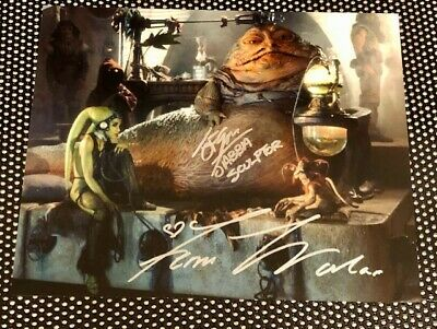 JOHN COPPINGER - Femi Taylor - Autograph Autogramm Jabba the  Star Wars