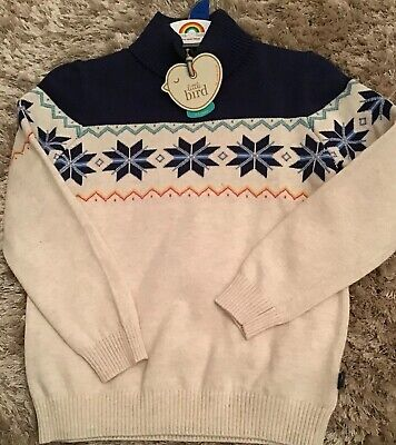 Little Bird By Jools Oliver Age 4-5 Years Roll Neck Christmas Jumper 🌈