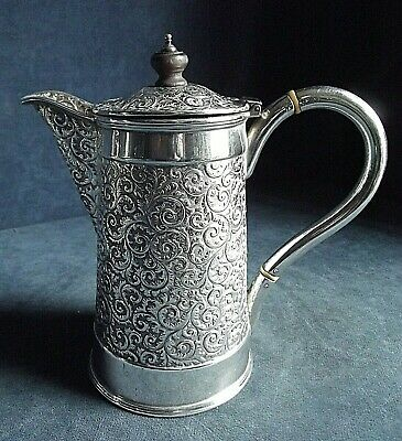 SUPERB Ornate ~ SILVER Plated ~ Juice / Water JUG ~ c1900 by George Bowen