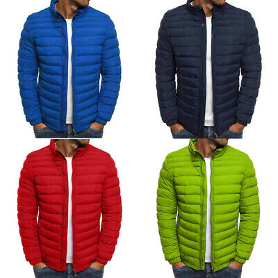 Padded Down Quilted Packable Outwear Coat Light Mens Bubble Puffer Ski Jacket
