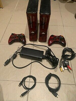 Microsoft Xbox 360 Slim Gears of War 3 Limited Edition 320GB Red & Black Console
