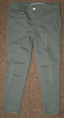 Girl's distressed jeans by Denim co at Primark. Khaki. Size 2-3 yrs. Pre-loved