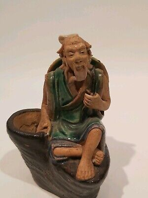 "Antique Shiwan Chinese Mudman Figurine, Appr. 4""/10cm Tall"