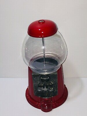 "Tabletop 12"" Bubble Gum Gumball Machine Carousel Industries Gumballs Dated 1985"