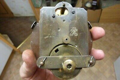 Antique French Clock Platform Movement & Hands-- Repair (Jf)
