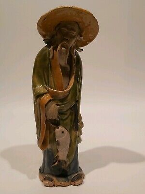 """Antique Shekwan Chinese Mudmen, Appr. 7 1/2""""/19cm Tall"""