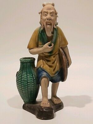 "Antique Shekwan Chinese Mudmen, Appr. 6 1/2""/16"" Tall"