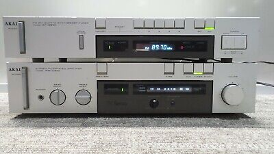 Akai AM-U210 Stereo Integrated Amplifier W/ Akai AT-S210 Receiver Working