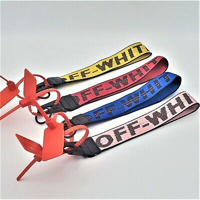 "Off-White Industrial Badge ID Belt Wrist Strap 10.5"" Keychain Lanyard"