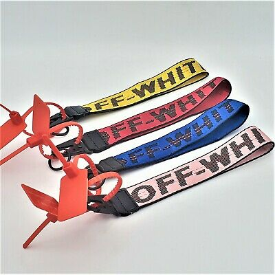 "Off-White Inspired Industrial Badge ID Belt Wrist Strap 10.5"" Keychain Lanyard"