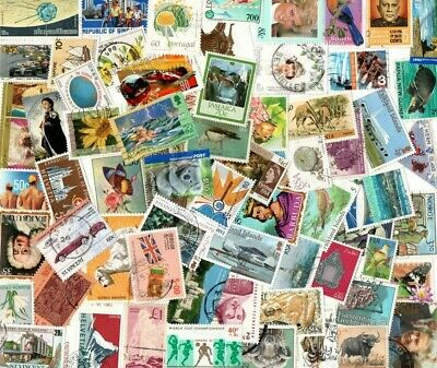 1/4 POUND ALL WORLD SELECTION inc COMMONWEALTH OFF PAPER STAMPS E397