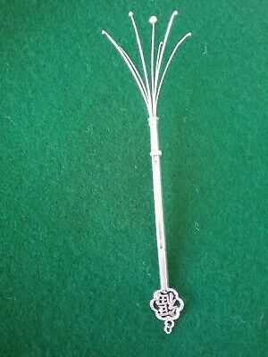Sterling Silver Retractable Swizzle Stick