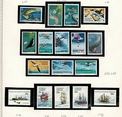 Lot of Australian Antarctic Teritory Old Stamps MNH