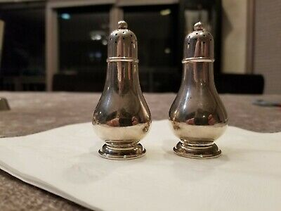 Rare Sterling Silver Salt Shakers By Tiffany And Company